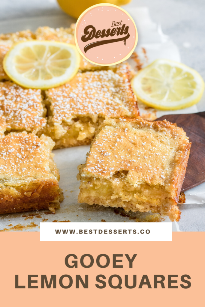 Gooey Lemon Squares Recipe