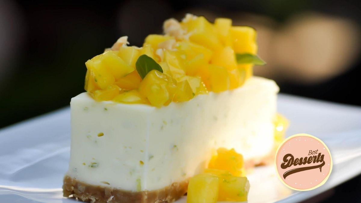 No-Bake Creamy Mango Cheesecake