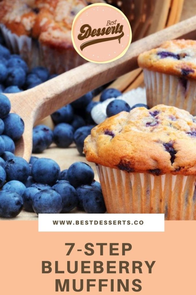 7-Step Blueberry Muffins